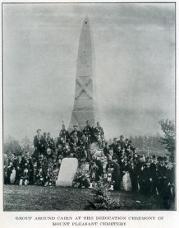 Dedicating the Mount Pleasant Cairn