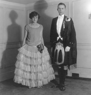 Erie Sheppard & John M. Catto dressed for the Ball in 1920