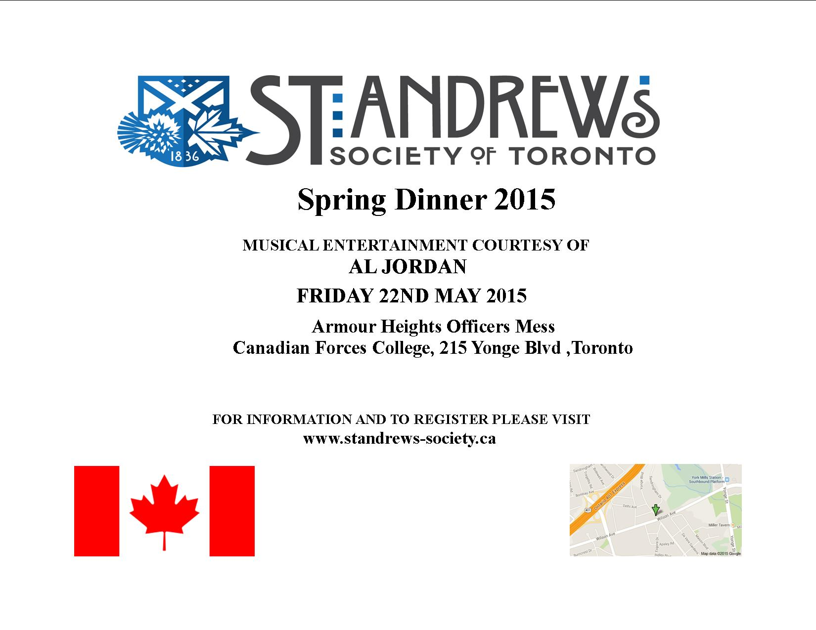 Spring Dinner Flyer 2015