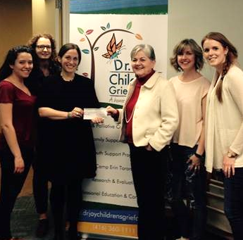 Dr. Jay's Chilldren's Grief Centre - SAST cheque presentation