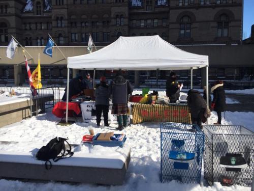 Kilt Skate - Clan Tent Set Up