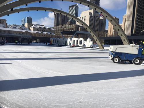 Kilt Skate - Cleaning Ice